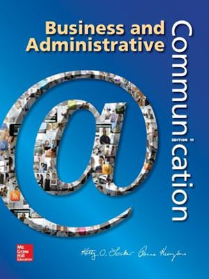 Solutions for Business and Administrative Communication, 11th Edition