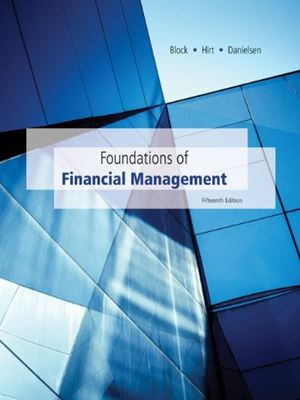 Foundations of Financial Management Solutions
