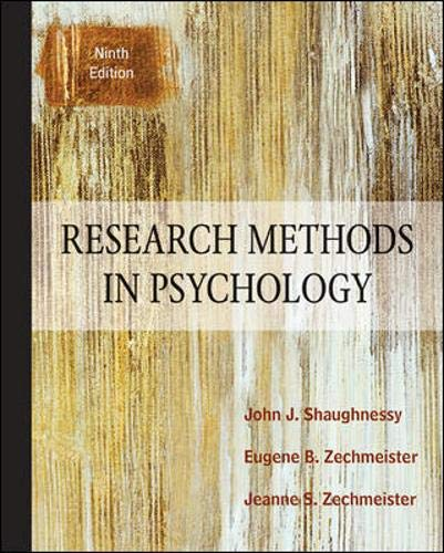 Research Methods in Psychology Solutions