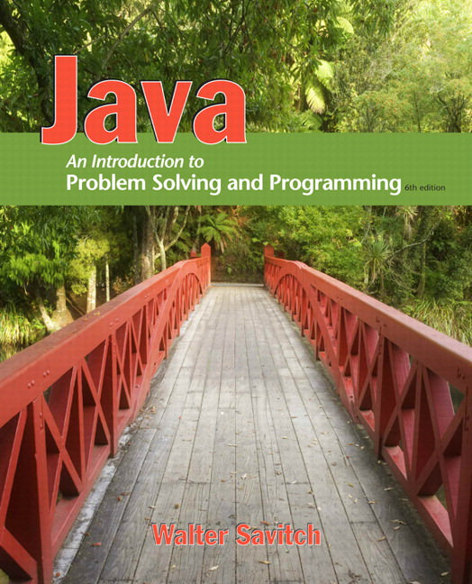 Java: An Introduction to Problem Solving and Programming Solutions