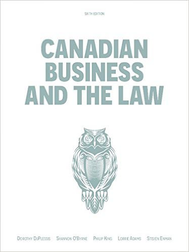 Canadian Business And The Law Solutions
