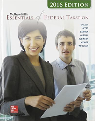 McGraw-Hill's Essentials of Federal Taxation Solutions