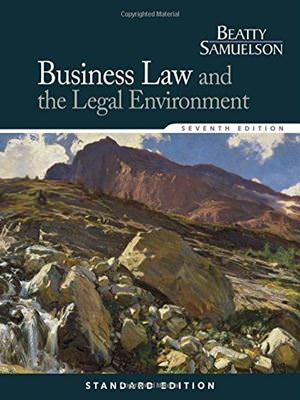 Business Law and the Legal Environment Solutions