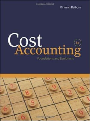 Cost Accounting: Foundations and Evolutions Solutions